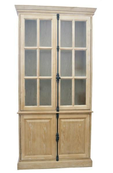 Шкаф Carino - искусственно состаренная поверхность, фасадное остекление