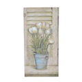 Панно букет белых тюльпанов 31х61 FR0689