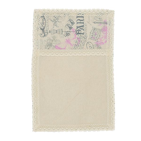 Cалфетка из льна с кружевом розовый Paris (от 2-х шт.) 30х45см 0399-5/30х45