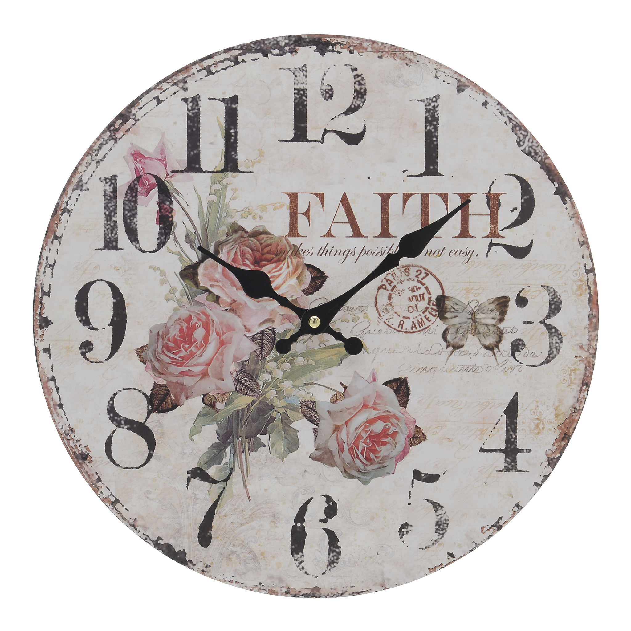 Часы настенные круглые 34см