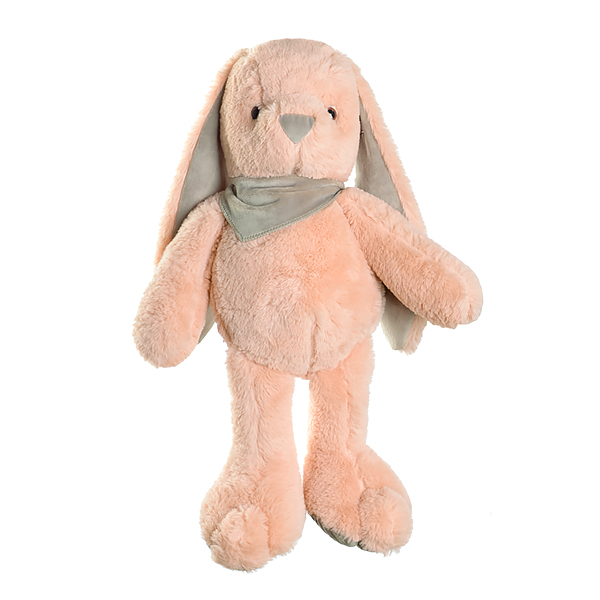 Кролик плюшевый розовый
