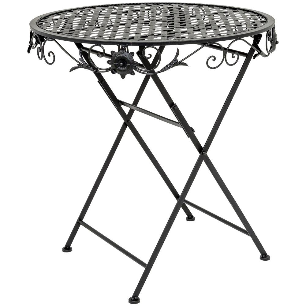 Складной столик для завтрака «Ницца» (черный антик)