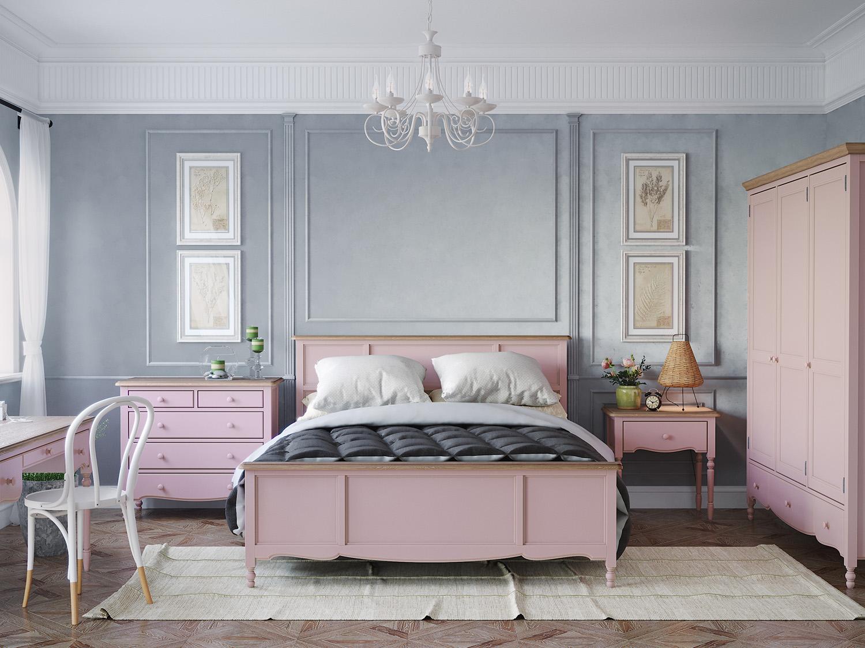 Кровать односпальная Leblanc, лаванда