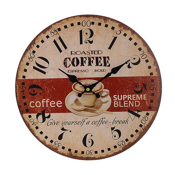 Часы настенные круглые Бодрящий кофе (34см)