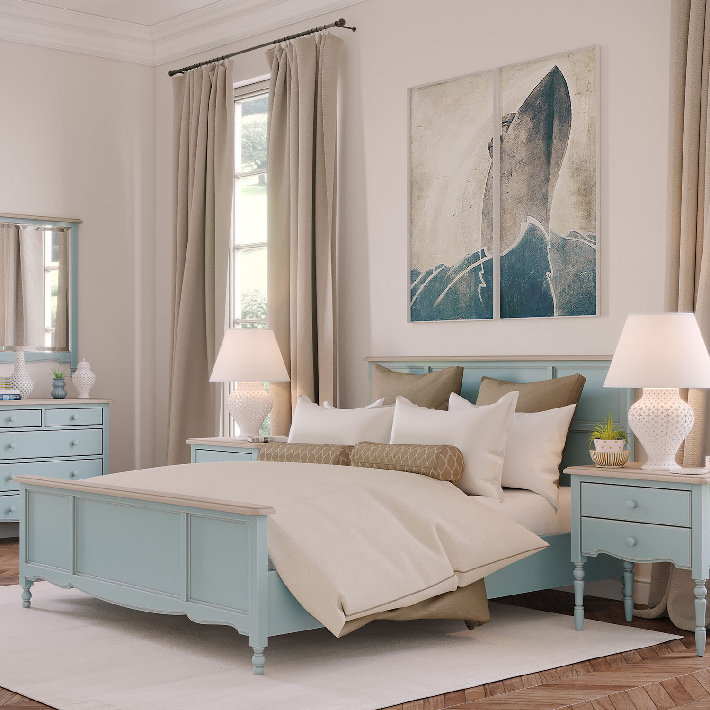 Спальня Leblanc, голубая