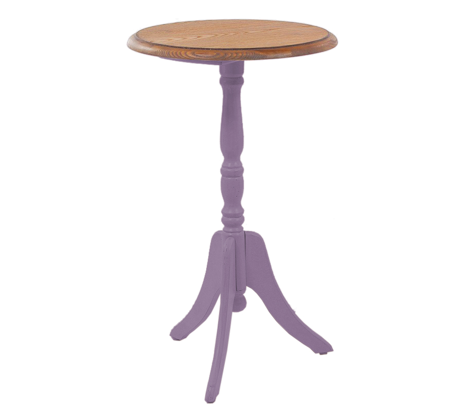 Кофейный столик Leontina круглый, лавандовый