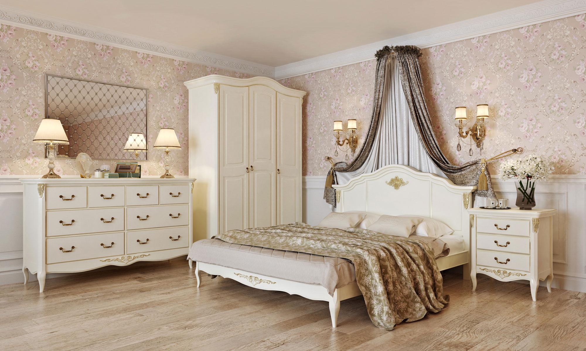 Шкаф 3 двери Romantic Gold