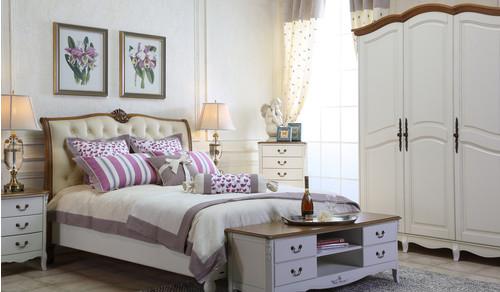 Шкаф 4-х дверный White Rose, шато-белый