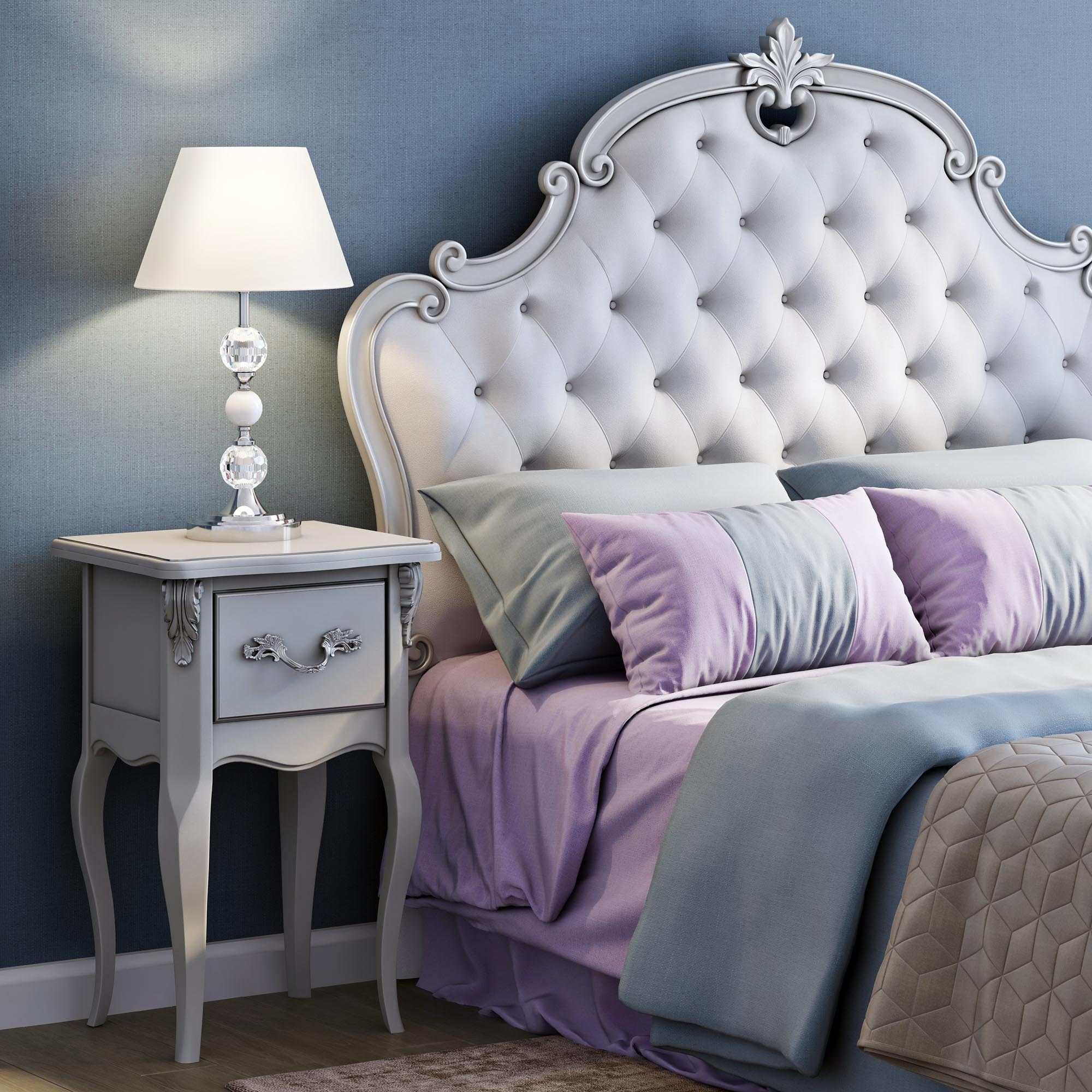 Кровать с декором 120*190 Atelier Home