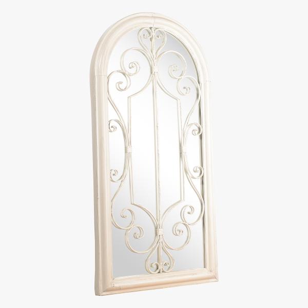 Зеркало - Окно Белый Ажур