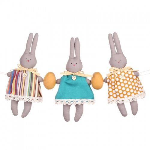 Кролики гирлянда. 3 шт 18х2х35см LJ87-0028