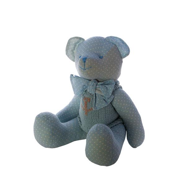 Мишка голубой 30 см. J1103001G