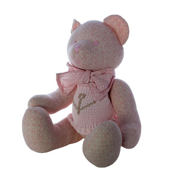 Мишка в одежде розовый 30 см. J1103001H