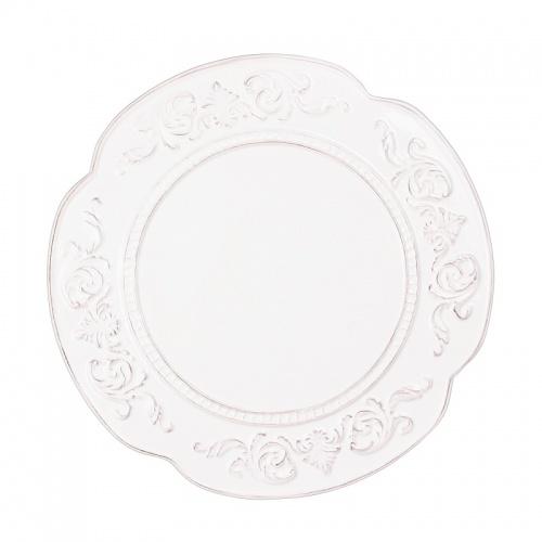 Тарелка белая завиток 25,5х25,5х3 MC08-0006