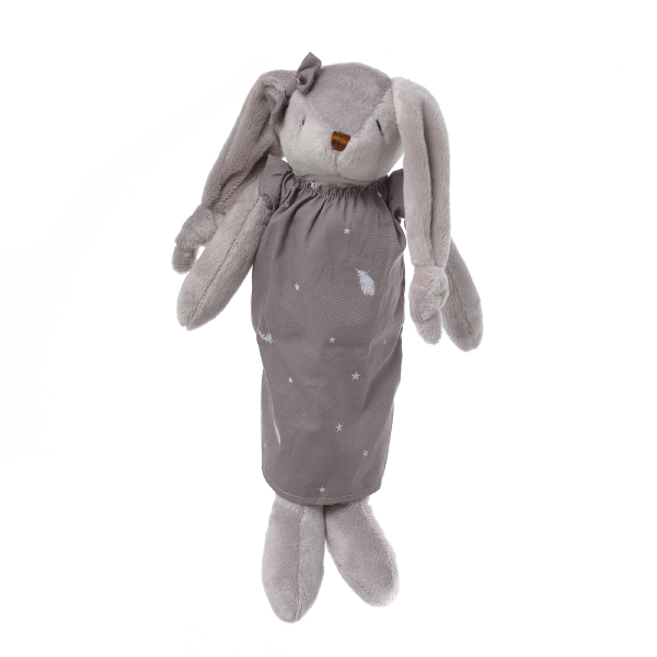 Кролик девочка в коричневом платье 33см FT1436186
