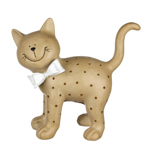 Статуэтка кошка в горошек 23,5х11,5х22 QJ99-0018
