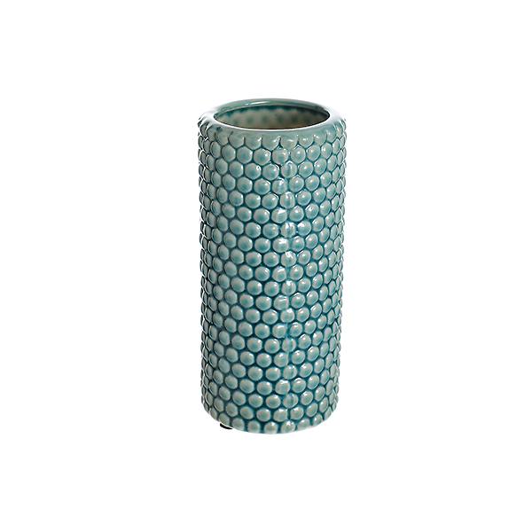 Ваза керамическая голубая роза (20см) 33G-3blue