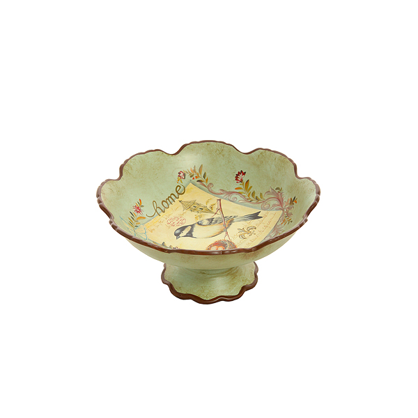 Фруктовница Поющая птичка (глина) H16291-02807-12