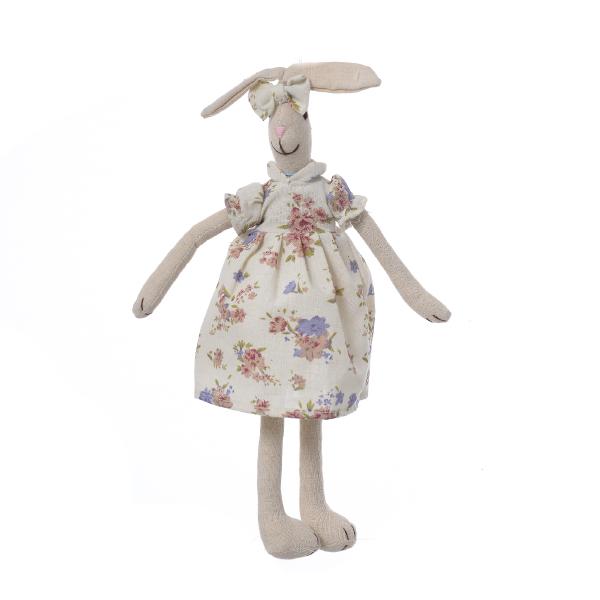 Кролик девочка в цветном платье 35см M1203501D