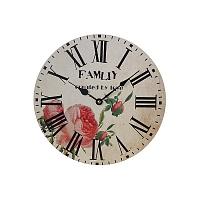 Часы настенные круглые роза YK-3