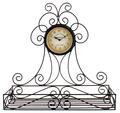 Часы настенные с полкой - кварцевый механизм 3-25-021-0092
