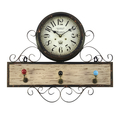 Часы настенные с вешалкой - кварцевый механизм 3-20-098-0203