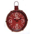 Часы настенные красные металлические - кварцевый механизм 3-20-773-0202