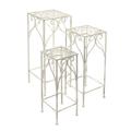 Столики высокие квадратные (набор из 3-х) 30*72 / 25*62 / 20*52 см
