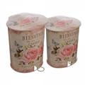Набор ящиков для мусора с педалью GARDEN розовый 15S1154B