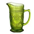 Кувшин стеклянный яркий светло-зеленый Солнце HR150GRP60