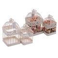 Металлический набор декоративных клеток белый PL08-6368