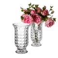 Ваза стеклянная Прозрачное серебро 13230-4A