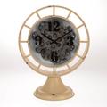 Часы настольные бежевые - кварцевый механизм 3-20-235-0001