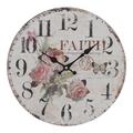 Часы настенные круглые 34см - кварцевый механизм 3-20-484-0392
