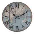 Часы настенные круглые голубые 34см - кварцевый механизм 3-20-484-0402