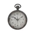 Часы настенные черные металлические - кварцевый механизм 3-20-773-0265