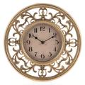 Часы настенные круглые золотого цвета 30см - кварцевый механизм 3-20-828-0040