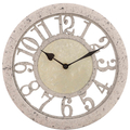 Часы настенные бежевые круглые 29см - кварцевый механизм 3-20-828-0067