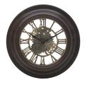 Часы настенные коричневые круглые 31см - кварцевый механизм 3-20-925-0001