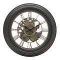 Часы настенные коричневые круглые 35см - кварцевый механизм 3-20-925-0006