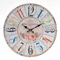 Настенные часы с цветными цифрами - кварцевый механизм 3-20-977-0104
