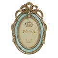 Фоторамка овальная золотая с голубым 3-30-715-0293