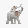 Мама-Слон с Слоненком на Спине (Полистоун)