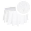 Скатерть круглая белый лен 2536-119F(180)