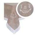 Скатерть темный лен с вышивкой 140х180 2589-105M(140x180)