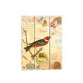 Панно красная птица с темными крыльями 30х40 H2/5