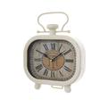 Часы настольные металлические будильник белый 50178C