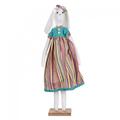 Заяц стоячий (девочка) 13х8,5х50 LJ87-0037