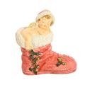 Ангел новогодний спящий на сапоге 12х6х13см A304667