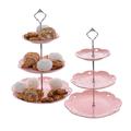 Фруктовница-этажерка розовая FD8005(роз)